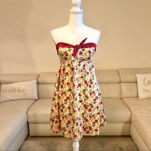 Betsey Johnson strawberry dress size 8